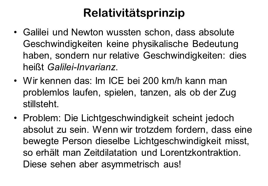Relativitätsprinzip