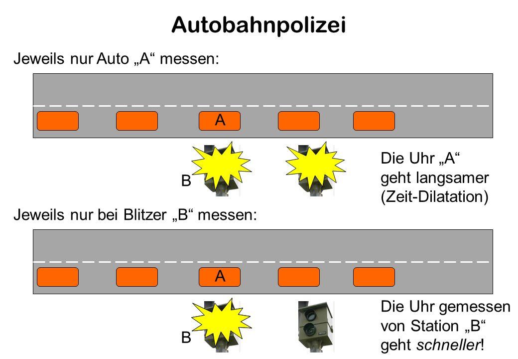 """Autobahnpolizei Jeweils nur Auto """"A messen: A Die Uhr """"A"""