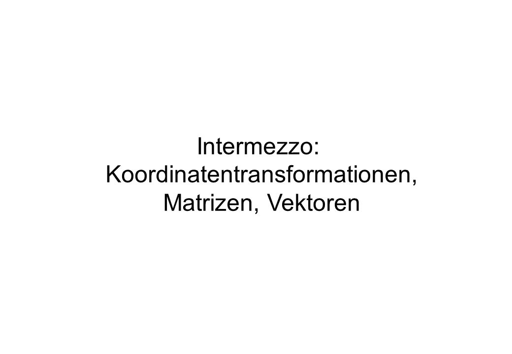 Koordinatentransformationen,