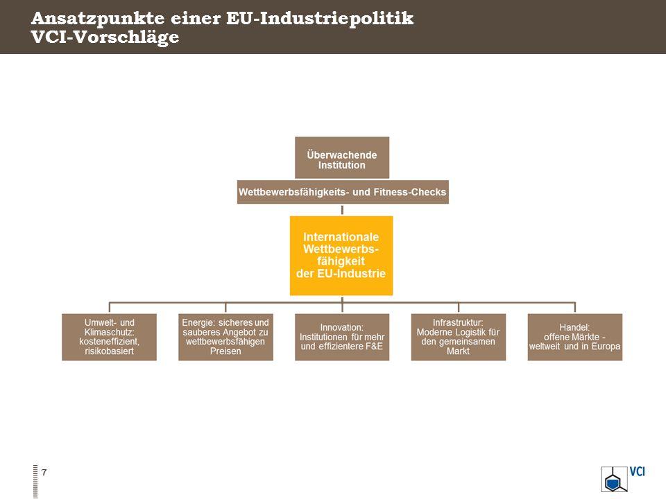 Ansatzpunkte einer EU-Industriepolitik VCI-Vorschläge