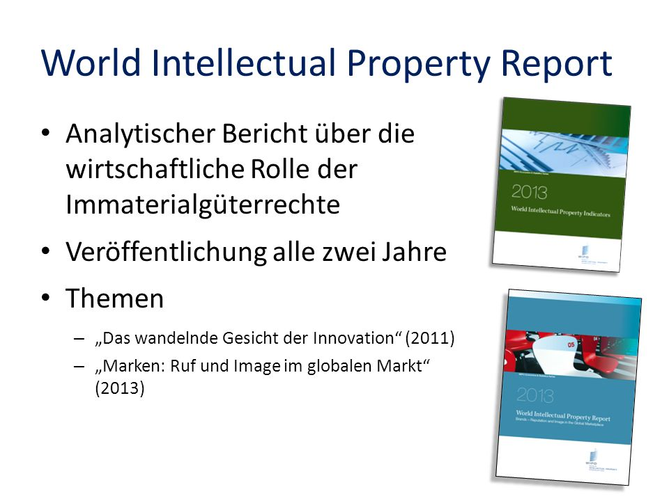 World Intellectual Property Report