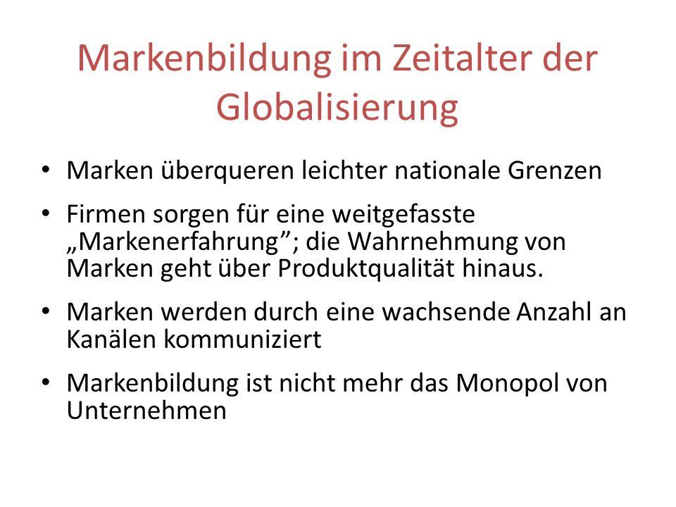 Markenbildung im Zeitalter der Globalisierung