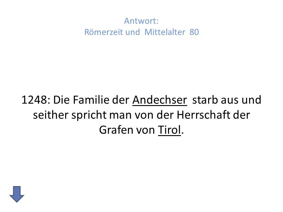 Antwort: Römerzeit und Mittelalter 80
