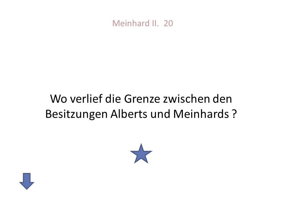 Wo verlief die Grenze zwischen den Besitzungen Alberts und Meinhards