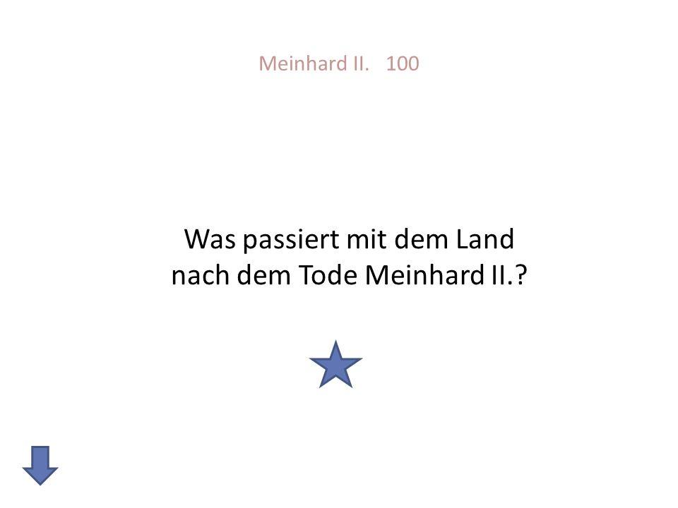 Was passiert mit dem Land nach dem Tode Meinhard II.