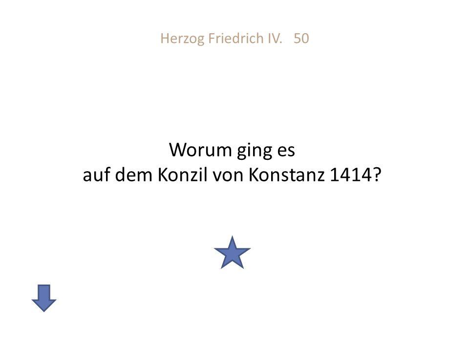 Worum ging es auf dem Konzil von Konstanz 1414