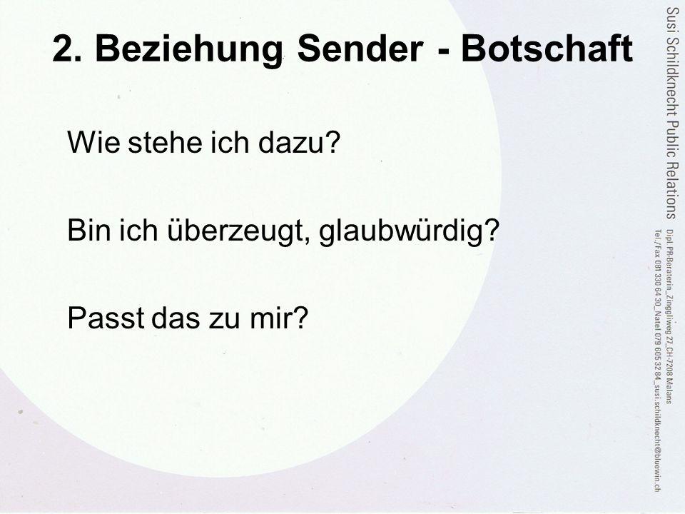 2. Beziehung Sender - Botschaft