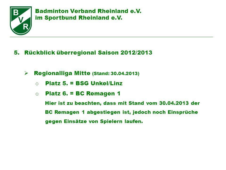 Badminton Verband Rheinland e.V. im Sportbund Rheinland e.V.