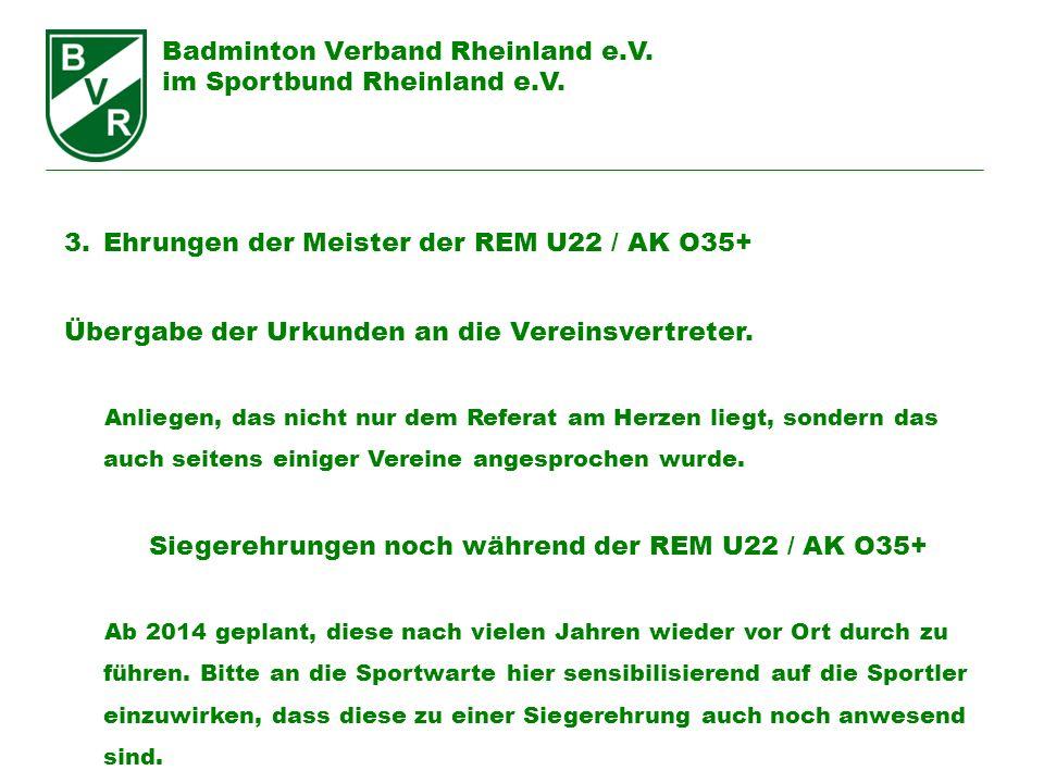 Siegerehrungen noch während der REM U22 / AK O35+