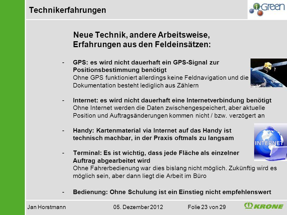 Jan Horstmann 05. Dezember 2012 Folie 23 von 29