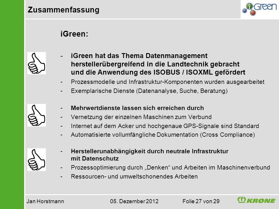 Jan Horstmann 05. Dezember 2012 Folie 27 von 29