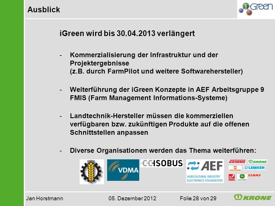 Jan Horstmann 05. Dezember 2012 Folie 28 von 29