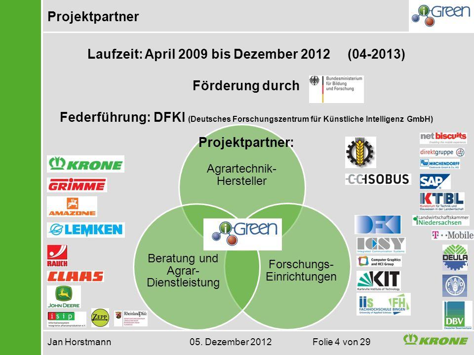 Laufzeit: April 2009 bis Dezember 2012 (04-2013)
