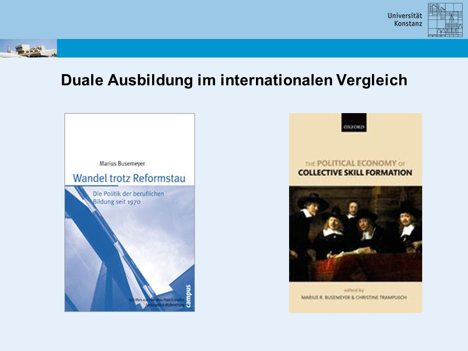 Duale Ausbildung im internationalen Vergleich