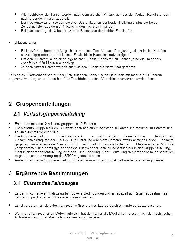 2 Gruppeneinteilungen Ergänzende Bestimmungen 2.1