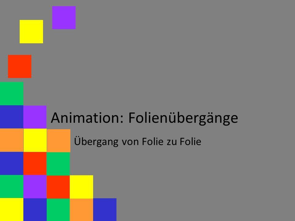 Animation: Folienübergänge