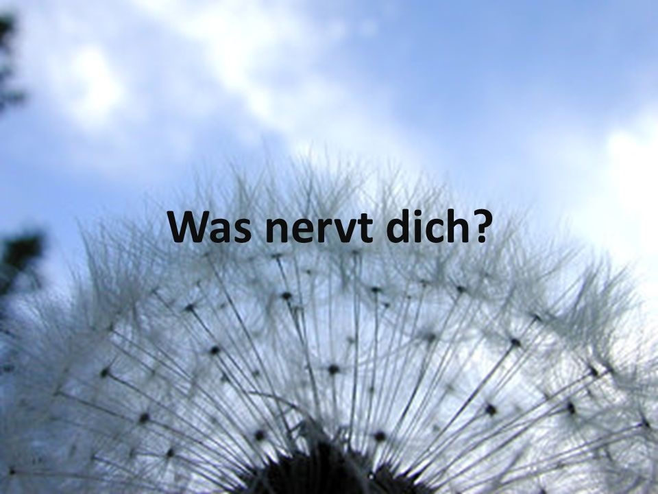 Was nervt dich