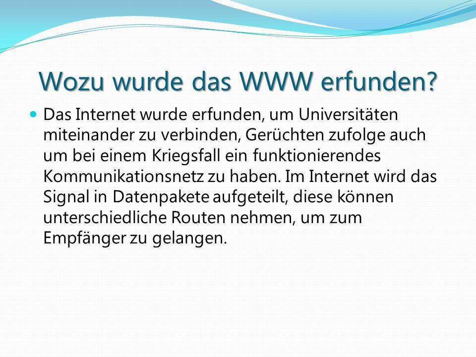 Wozu wurde das WWW erfunden