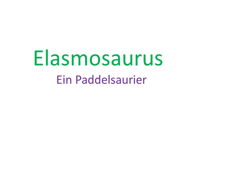 Elasmosaurus Ein Paddelsaurier