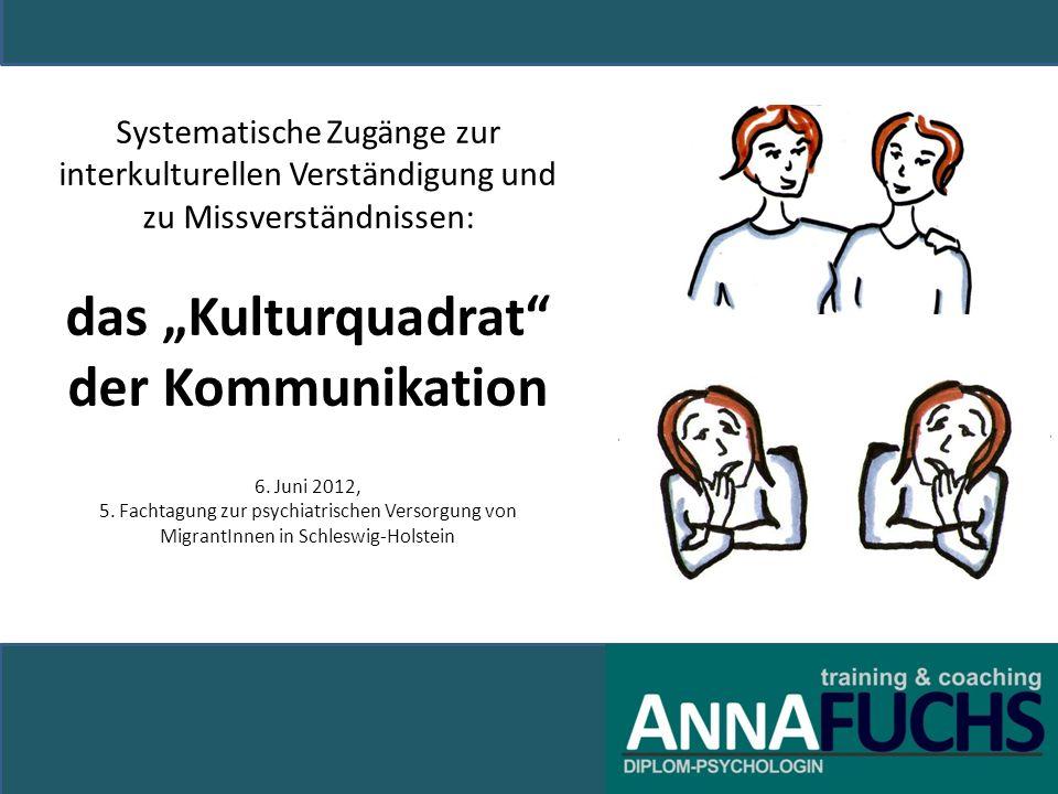 """Systematische Zugänge zur interkulturellen Verständigung und zu Missverständnissen: das """"Kulturquadrat der Kommunikation 6."""