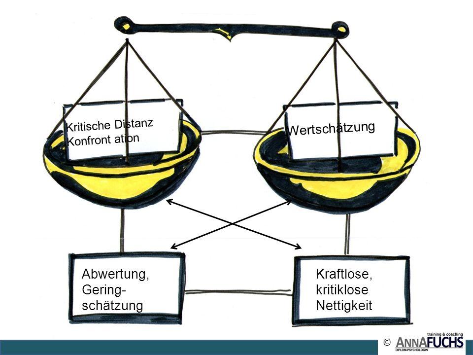 Wertschätzung Abwertung, Gering- schätzung Kraftlose, kritiklose