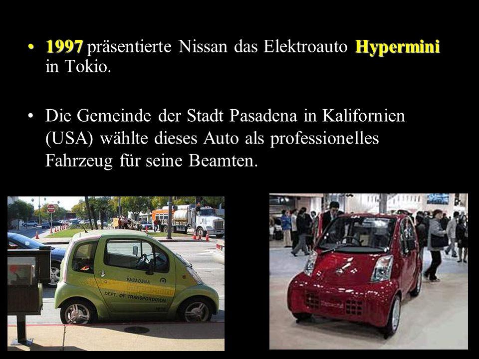1997 präsentierte Nissan das Elektroauto Hypermini in Tokio.