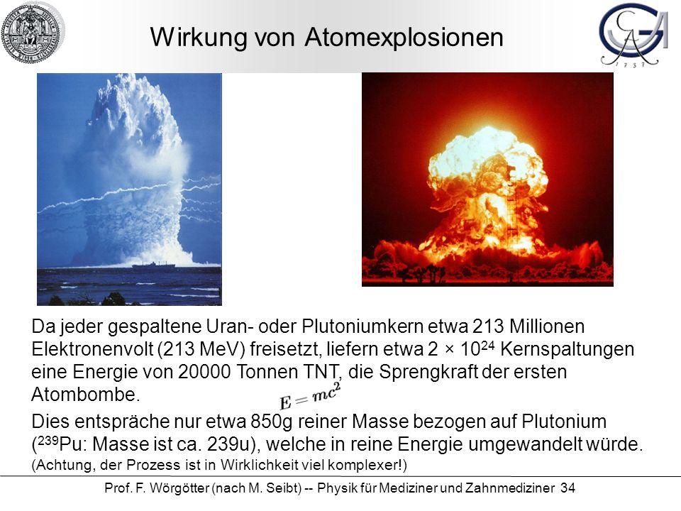 Wirkung von Atomexplosionen