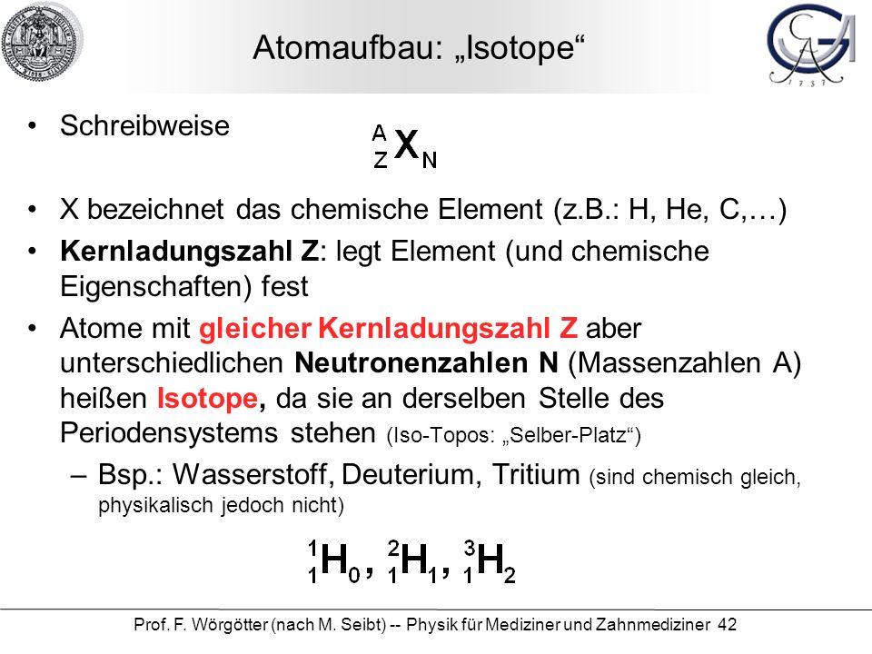 """Atomaufbau: """"Isotope"""