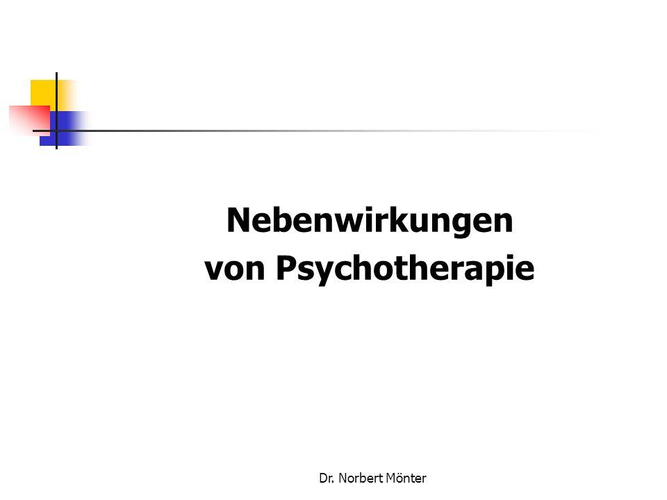 Nebenwirkungen von Psychotherapie