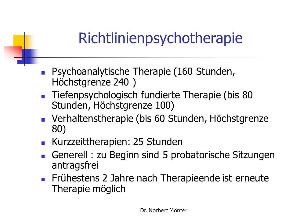 Richtlinienpsychotherapie