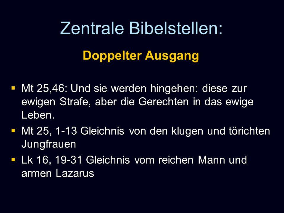 Zentrale Bibelstellen: