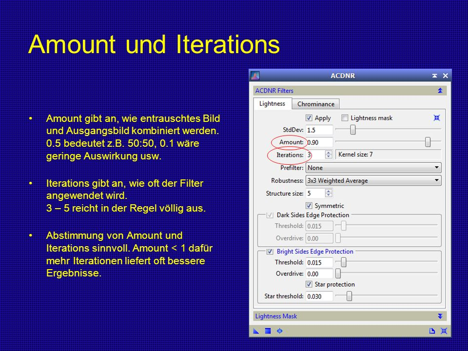 Amount und Iterations