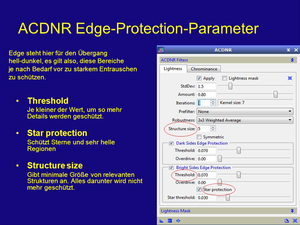 ACDNR Edge-Protection-Parameter