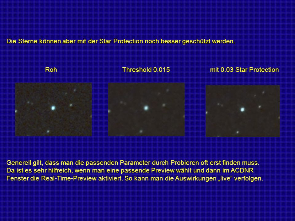 Roh Threshold 0.015 mit 0.03 Star Protection