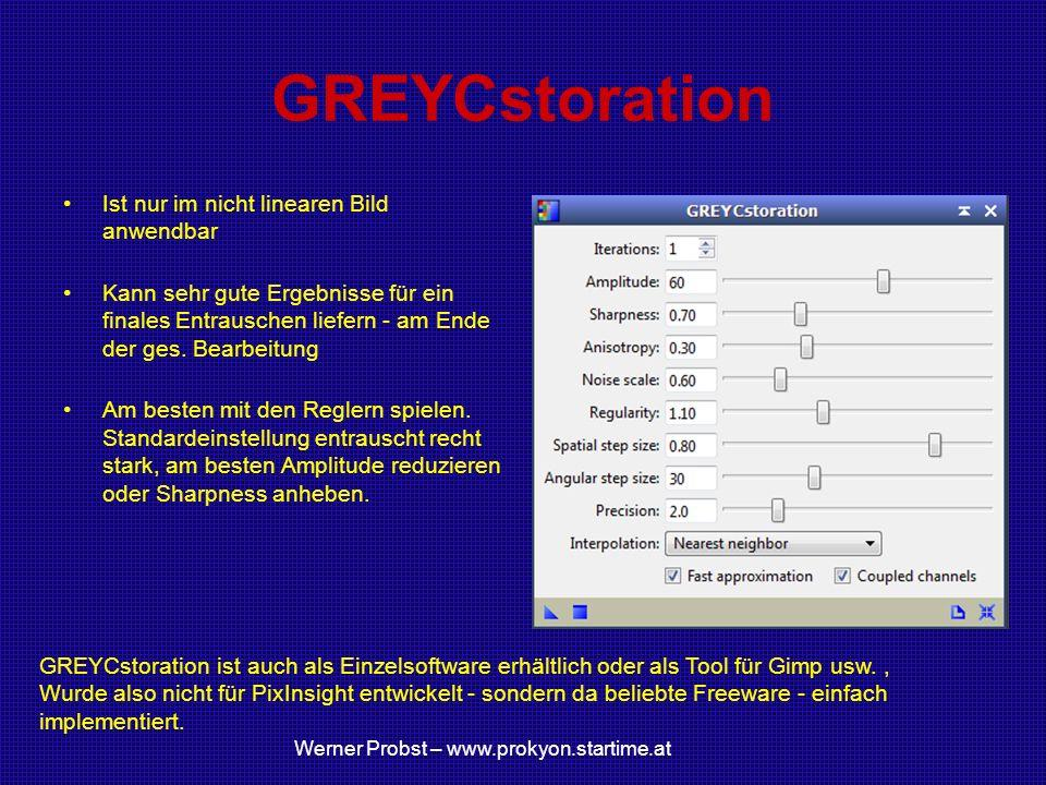GREYCstoration Ist nur im nicht linearen Bild anwendbar