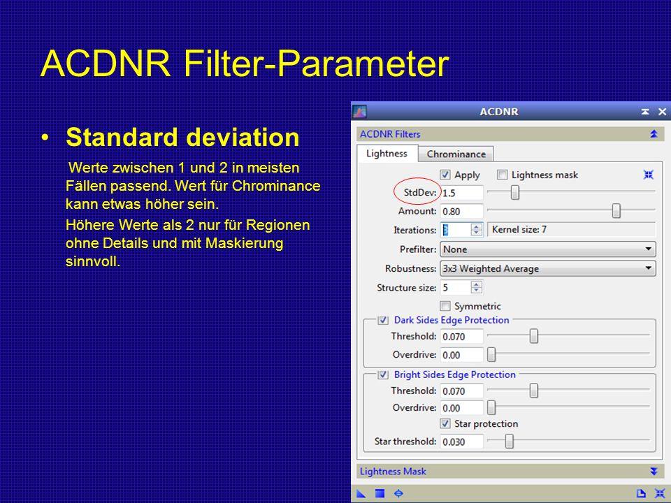 ACDNR Filter-Parameter
