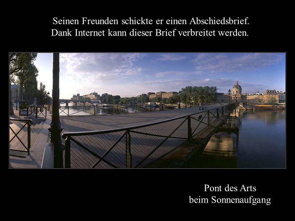Pont des Arts beim Sonnenaufgang