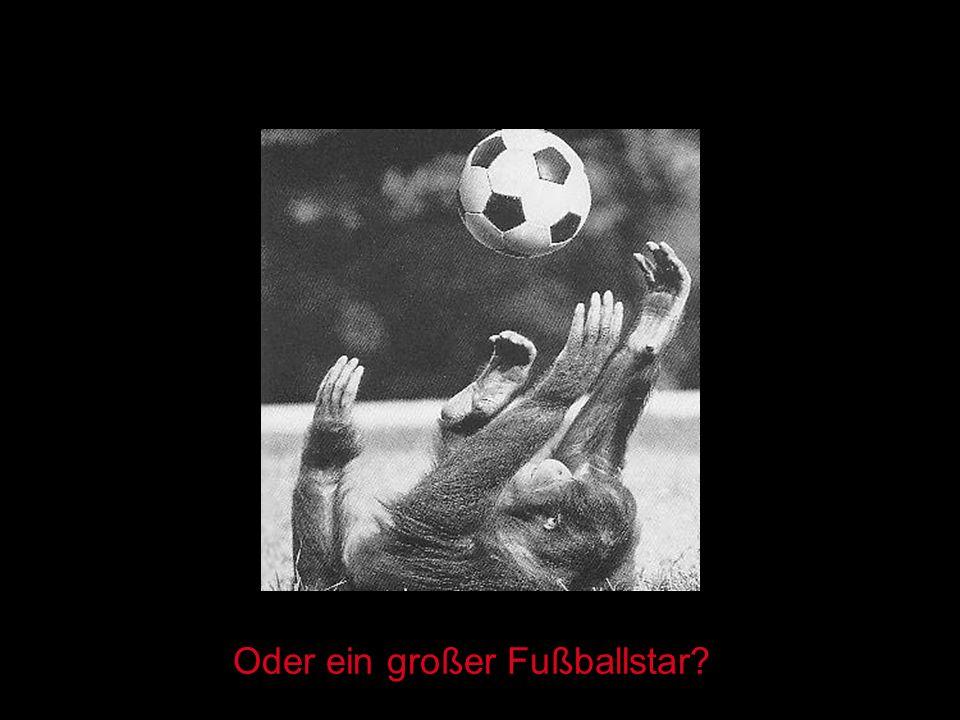 Oder ein großer Fußballstar