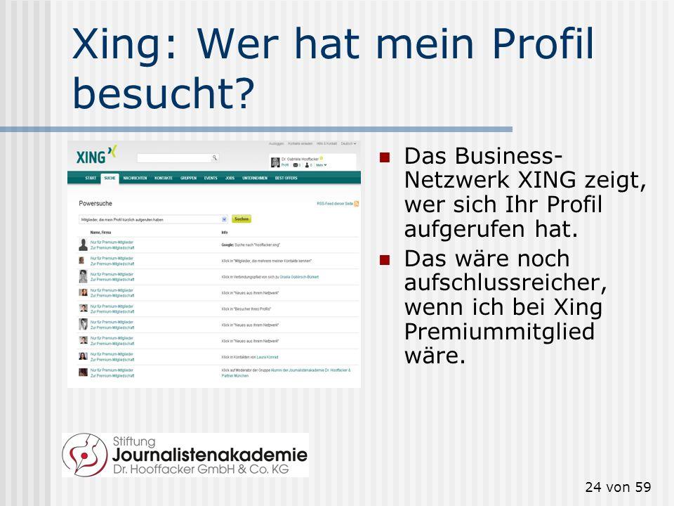 Xing: Wer hat mein Profil besucht