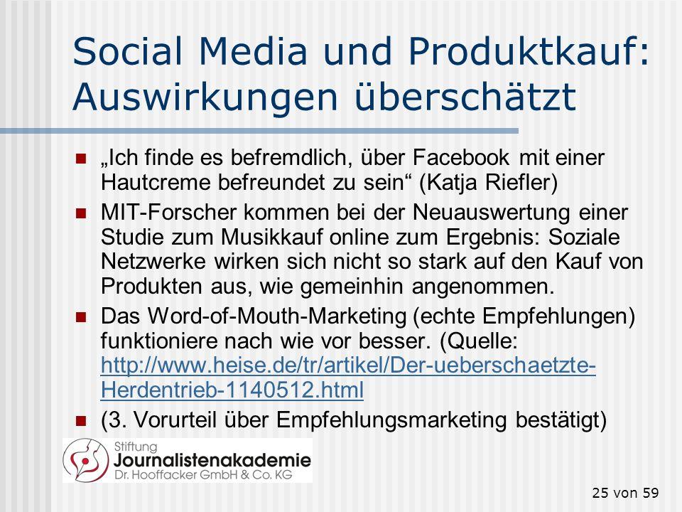 Social Media und Produktkauf: Auswirkungen überschätzt