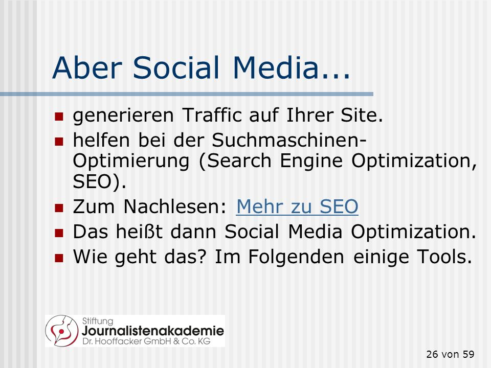 Aber Social Media... generieren Traffic auf Ihrer Site.