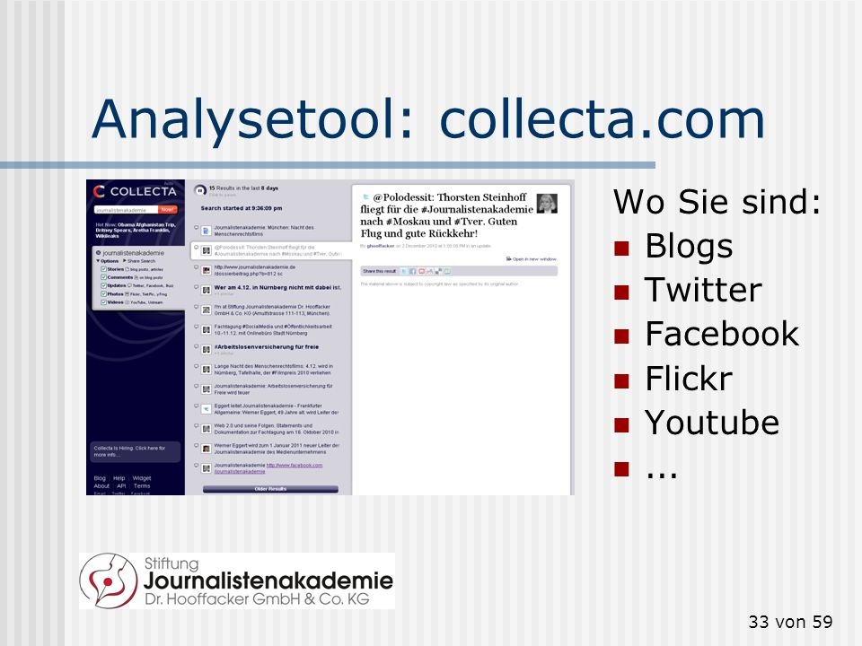 Analysetool: collecta.com