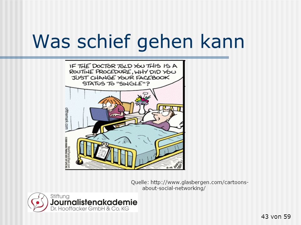 Was schief gehen kann Quelle: http://www.glasbergen.com/cartoons-about-social-networking/