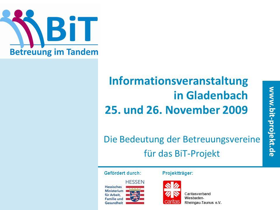 Informationsveranstaltung in Gladenbach 25. und 26. November 2009