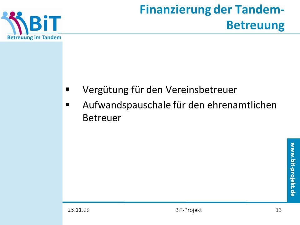 Finanzierung der Tandem-Betreuung