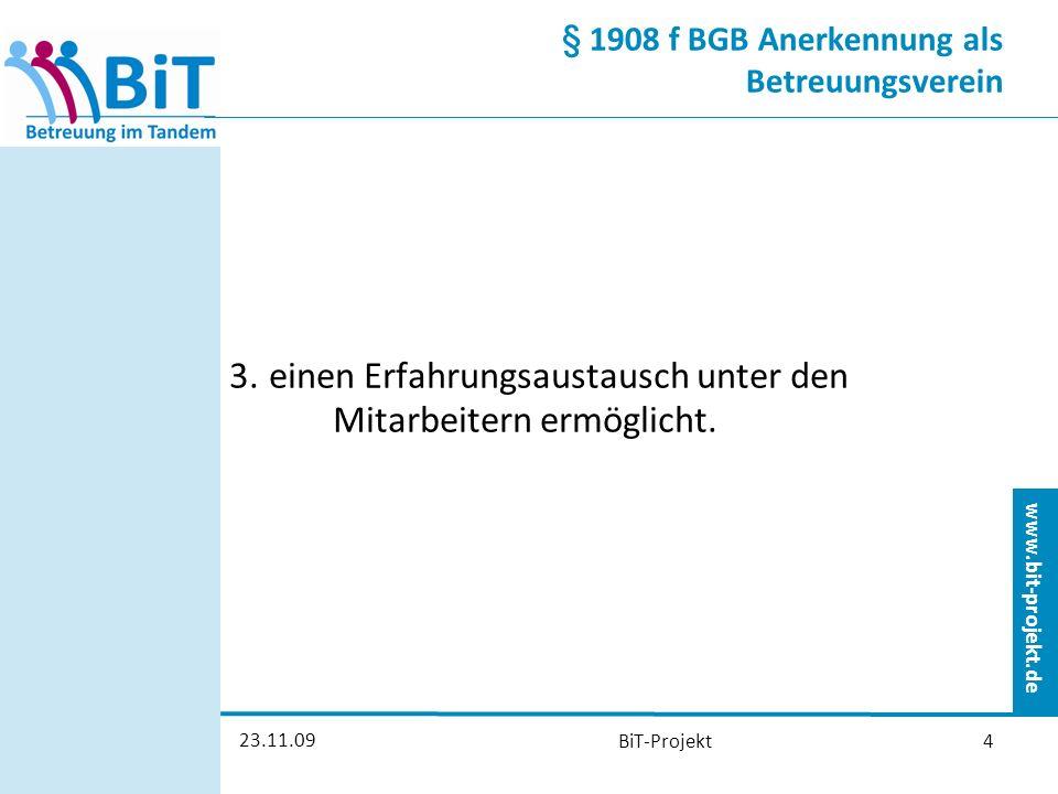 § 1908 f BGB Anerkennung als Betreuungsverein