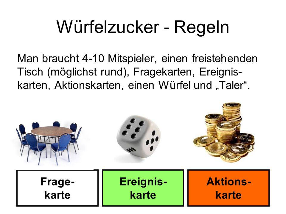 Würfelzucker - Regeln
