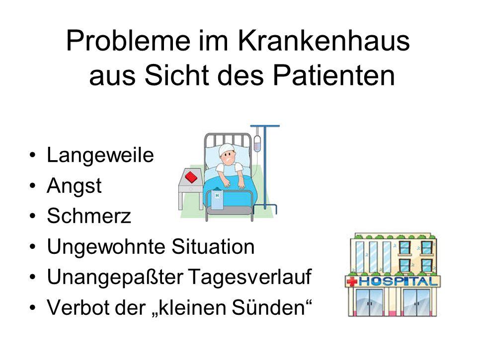 Probleme im Krankenhaus aus Sicht des Patienten