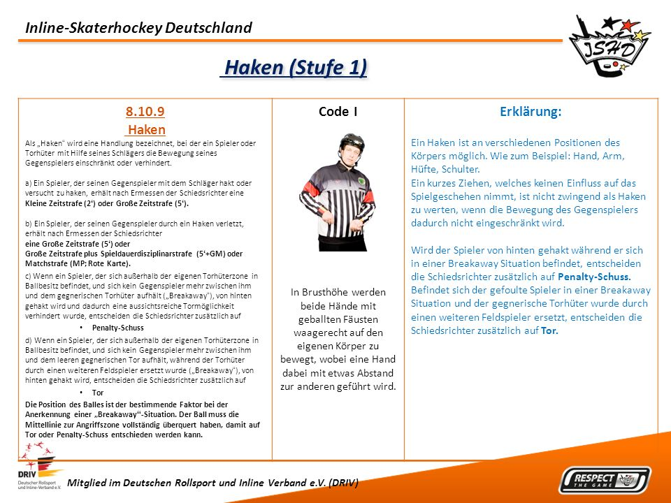 Haken (Stufe 1) 8.10.9 Haken Code I Erklärung: