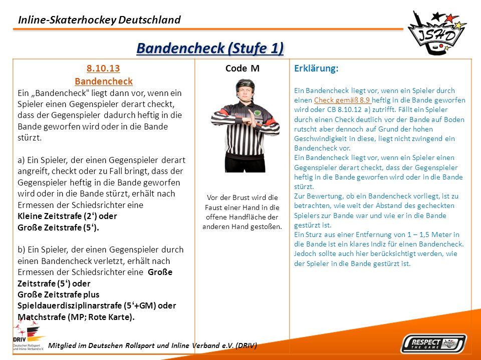Bandencheck (Stufe 1) 8.10.13 Bandencheck Code M Erklärung: